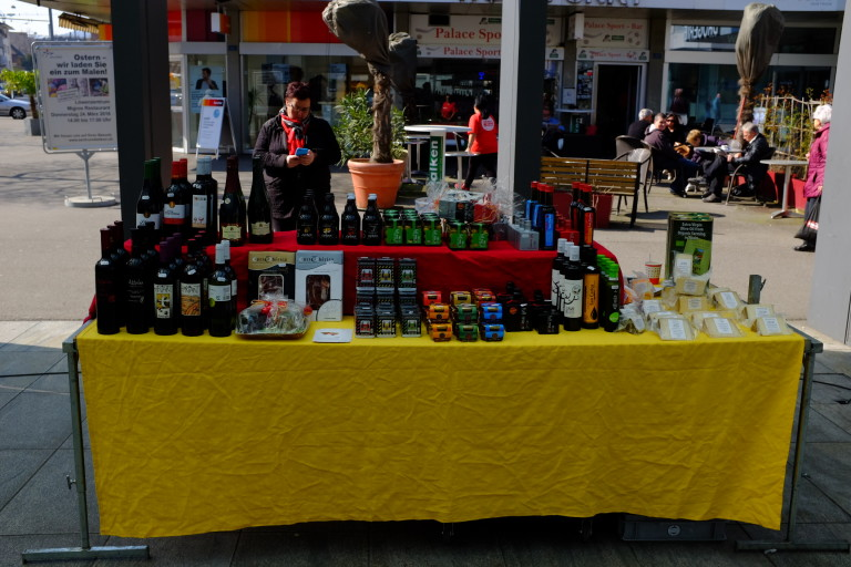 Market Stall selling Spanish Products