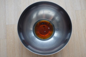 bowl oil and vanilla