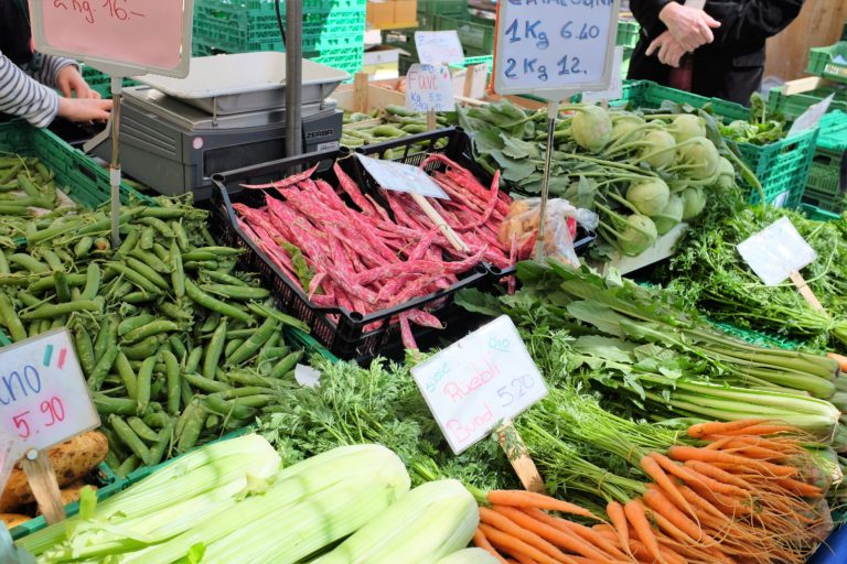 some of the vegetables on offer