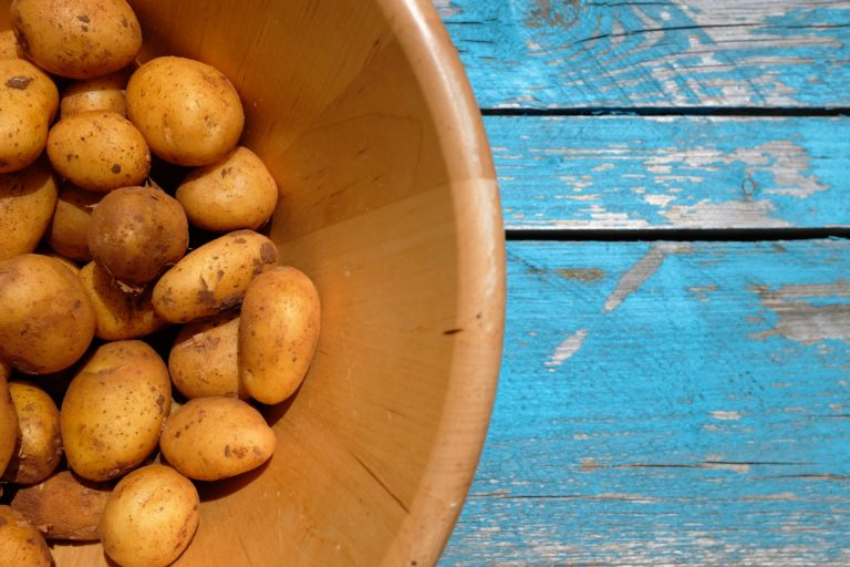 New potatoes in a bowl