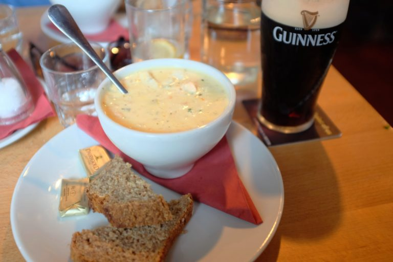 Chowder and Guinness in Arundels